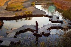 Water-crossing . Anjo, Japan