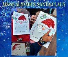 Trabajamos la motricidad Manualidad navideña Santa Claus en algodon y bolitas de papel