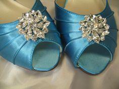 Malibu Blue Dior Bow Wedding Shoe clips Malibu by daisyclub, $24.00 ...