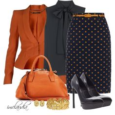 """""""Style That Skirt"""" by imclaudia-1 on Polyvore Office Fashion, Work Fashion, Business Fashion, Fashion Outfits, Womens Fashion, Classy Outfits, Cute Outfits, Professional Attire, Work Wardrobe"""