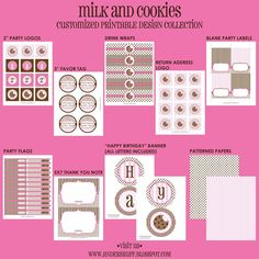 MILK and COOKIES Birthday Party  CUSTOMIZED  by andersruff on Etsy