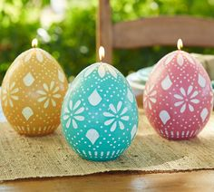 Egg Shaped Candles perfect for Easter