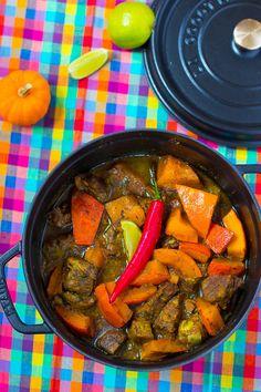 Un délicieux mijoté doucement épicé et pimenté aux bonnes saveurs des Antilles !