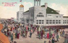 Turn of the century Atlantic City Boardwalk