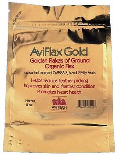 #FeatherPlucking Flax seed has nutrients address the causes of feather plucking.  Add a bit to your daily veggie or bird mash recipe to supply much needed nutrients for any bird, but especially a feather plucking bird. $9.99 http://www.birdsupplies.com/aviflax-gold-gently-milled-premium-flax-seed/