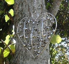 wire heart with bells