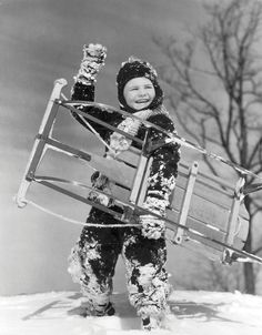We take to the slopes to find the fastest, most maneuverable models, testing everything from inner tubes to handmade runner sleds. Sled, Pillow Design, Old Photos, Skiing, The Past, Wonder Woman, Superhero, Black And White, Retro