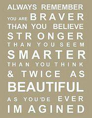 words ~ always remember!