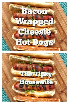 """""""Tough Day"""" Dinner ~ Bacon Wrapped Hot Dogs On The Grill - The Tipsy Housewife Hot Dog Recipes, Top Recipes, Real Food Recipes, Easy Recipes, Wrapped Hot Dogs, Bacon Wrapped Hotdogs, Appetizer Recipes, Dinner Recipes, Cocktail Recipes"""