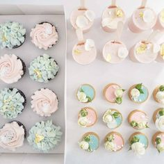 """356 Likes, 6 Comments - Petal + Peach (@petalandpeach.bakery) on Instagram: """"Sweet treats flat lay featuring strawberry mousse pots + gold, mini tarts + blooms and gf salted…"""""""