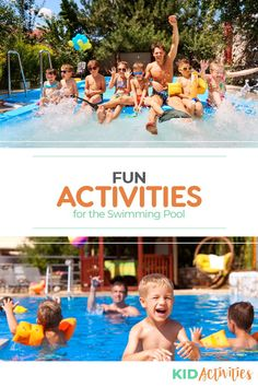Swimming Pool Games: 16 Best Pool Games for Kids - Kid Activities Fun Games For Boys, Swimming Pool Games, Summer Party Games, Pool Party Games, Cool Swimming Pools, Kid Pool, Cool Pools, Outdoor Games For Kids, Indoor Activities For Kids