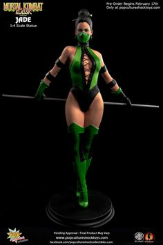 Pop Culture Shock Collectibles Presents Mileena & Jade Statues from Mortal Kombat Figuras Disney Infinity, Mortal Kombat Costumes, Jade Mortal Kombat, Badass Halloween Costumes, Claude Van Damme, Pop Culture Shock, Photographie Indie, Mileena, Sideshow Collectibles