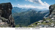 Acantilado subiendo al Pico de la Gela - Pirineo Central Francés