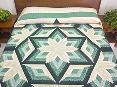 Diamond Star Quilt -- wonderful skillfully made Amish Quilts from Lancaster (hs5461)