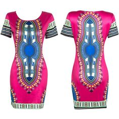 African Dashiki Mini Dress