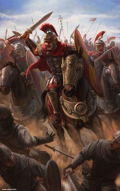 Estoooo, digamos que caballería romana repartiendo cera a unos bárbaros no identificados, y no digo más... Más en www.elgrancapitan.org/foro