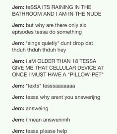 ,,,Jem in modern times  The infernal devices
