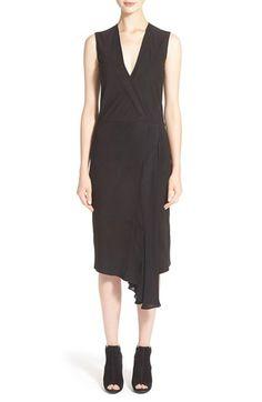 VINCE Suede Wrap Dress. #vince #cloth #dress