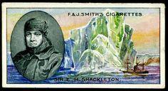 Cigarette Card - Sir Ernest Shackleton (1911)
