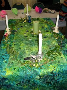 Green Altar    Altar for the closing liturgy at the women's retreat