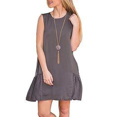 Lusiyu Women's Loose Sleeveless Crewneck A-line Short Dress (Xl, Gray) Lusiyu http://www.amazon.com/dp/B019TXC3O4/ref=cm_sw_r_pi_dp_tIQUwb0VP2TF8