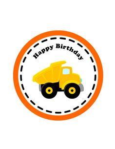 Construction Birthday Printable, Centerpiece  -Instant Download Construction Cupcakes, Construction Theme Party, 3rd Birthday, Birthday Parties, Sulli, Tent Cards, Caterpillar, First Birthdays, Party Time