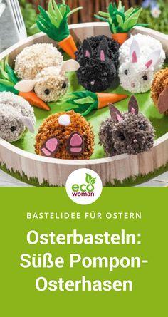 Ostern – Basteln & Dekorieren Are you still looking for creative craft ideas for Easter? Creative Crafts, Diy And Crafts, Crafts For Kids, Happy Easter, Easter Bunny, Easter Crafts, Christmas Diy, Rabbit, Blog