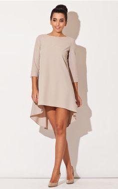 Beige Long Back Dress