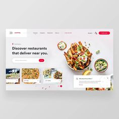 Food Web Design, App Design, Restaurants That Deliver, Catering Design, Drug Design, Graduation Project, Food Website, Website Design Inspiration, Web Layout