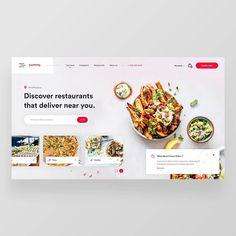 Food Web Design, App Design, Web Layout, Layout Design, Restaurants That Deliver, Catering Design, Best Landing Pages, Drug Design, Website Design Inspiration