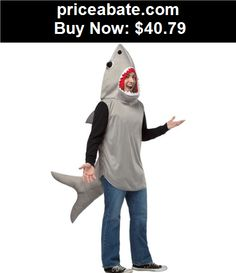 Men-Costumes: Sand Shark Costume Adult Halloween Fancy Dress - BUY IT NOW ONLY $40.79