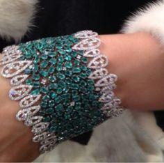 Stunning diamond and emerald bracelet Instagram