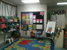 Group Work Area.  I love this rug!  from A Peak at my Room! on Kreative in Kinder