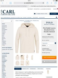 Polo Ralph Lauren Brushed Jersey Hoodie Oatmeal