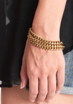 Fools Gold Indie Chain Bracelet 22.00 at threadsence.com