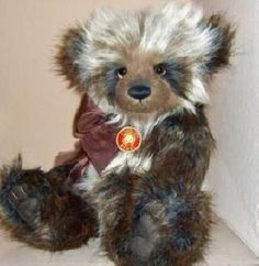 Charlie Bears Duffy Plush -- sort of wild... panda-like, kind of... Himalayan... actually I have no idea, but it's pretty.