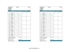 This Chicago Bridge Score Sheet has space to record scores for your Chicago bridge game. Free to download and print