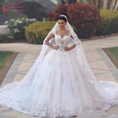 Vestidos de Novia Sexy See Through Bodice Wedding Dress Royal Tail Flowers  Luxury Wedding Gowns Bride Dresses Bruidsjurken · olesa wedding shop ·  Online ... 2e37ef21efc6