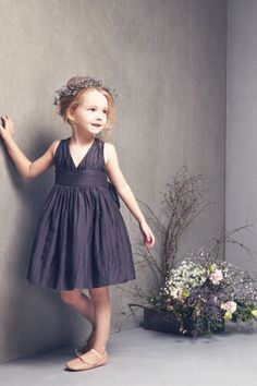 A-line V-neck Short/Mini Taffeta Fabric Flower Girl Dresses with Ruched Style f50638