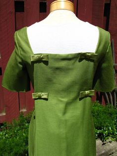 Vintage 60s Mod / Green Goddess / Square by englishrosevintageoh, $35.99