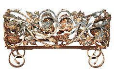 Antique Cast Iron Floral Planter on OneKingsLane.com.  On sale today... Amazing patina!