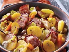 Backeoffe saucisse fumée, poitrine et pommes de terre