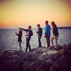 Oct 2014: watching the sun set. #birthdayparty #sunset #emeryville #marina #sanfranciscobay #oldfriends #bandmates #downtime #musicians