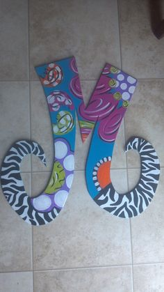 Handpainted Initial Door Hanger by StageCreations on Etsy, $30.00