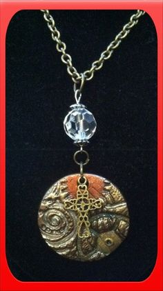 Artisan Handmade Oven Baked Polymer Clay Necklace on Etsy, $10.00