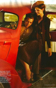 two for the road: kendra spears and ben mendelsohn by will davidson for harper's bazaar australia september 2011