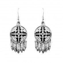 Boucles d'oreilles des indiens d'amérique - www.boutique-vintage.com