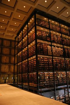 Beinecke Rare Book and Manuscript Library, Yale University, New Haven, CT Beautiful Library, Dream Library, Library Books, Library Architecture, Architecture Design, Book Aesthetic, Book Nooks, New England, Beautiful Places