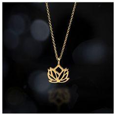 new beginnings rising lotus necklace, 18k gold