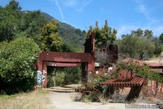 "Rustic Canyon's Nazi Ruins ""Murphy Ranch"" in the Santa Monica Mountains Los Angeles 